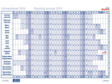 Tableau de planning annuel BEREC, B-5604 / ..