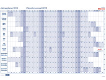 Tableau de planning annuel BEREC B-5666 TF ..