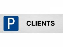 "Plaque de parking ""CLIENTS"""