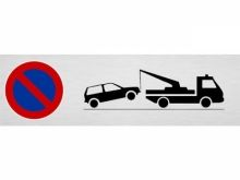 Plaque de parking, signal menace de mise en..