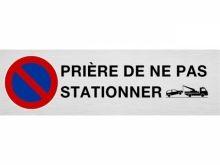"""Plaque de parking """"PRIÈRE DE NE PAS STATION.."""