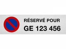 """Plaque de parking """"RÉSERVÉ POUR ..."""" indivi.."""