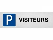 "Plaque de parking ""VISITEURS"""
