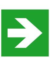 Rettungsschild Alu Pfeil links / rechts
