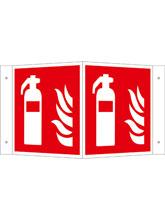 Brandschutzschild Alu Feuerlöscher Winkelsc..