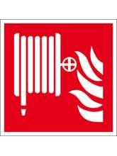 Brandschutzschild Alu Löschschlauch