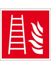 Brandschutzschild Alu Feuerleiter