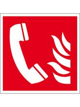 Brandschutzschild Alu Brandmeldetelefon 200..