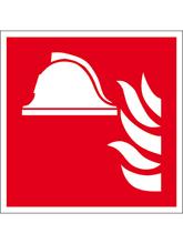 Brandschutzschild Alu Brandbekämpfung 200x2..