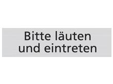 WUWI Standard-Schild - Bitte läuten und ein..