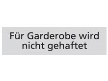 WUWI Standard-Schild - Für Garderobe wird n..