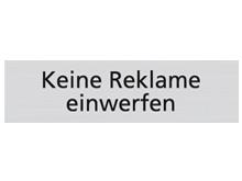 WUWI Standard-Schild - Keine Reklame einwer..