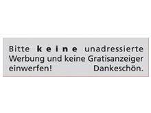 WUWI Standard-Schild - Bitte keine unadress..