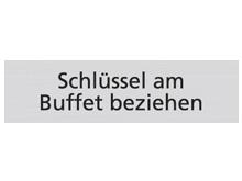 WUWI Standard-Schild - Schlüssel am Buffet ..