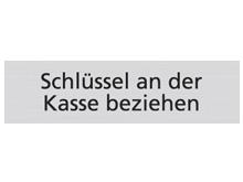 WUWI Standard-Schild - Schlüssel an der Kas..