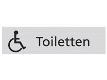WUWI Standard-Schild - Toiletten mit Rollst..