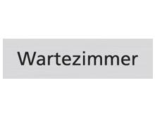 WUWI Standard-Schild - Wartezimmer
