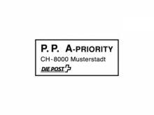 P.P. Stempel mit A-Post