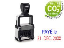 """TRODAT Professional Dater 5430.L2-f """"PAYÉ le"""""""