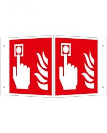 Brandschutzschild Alu Brandmelder Winkelschild
