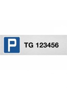 Parkplatzschild individuell