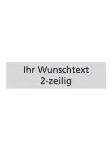 WUWI Standard-Schild - Individuell 2-zeilig