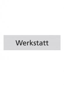 WUWI Standard-Schild - Werkstatt