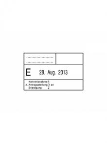 Kontierungsstempel mit Datum