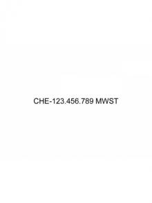 MWST-Nummer